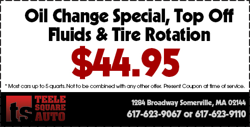 Oil Change Tire Rotation  Coupon Somerville, MA