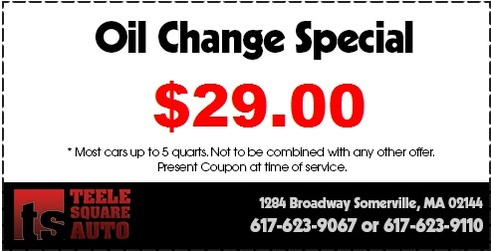 Oil Change Coupon Somerville, MA